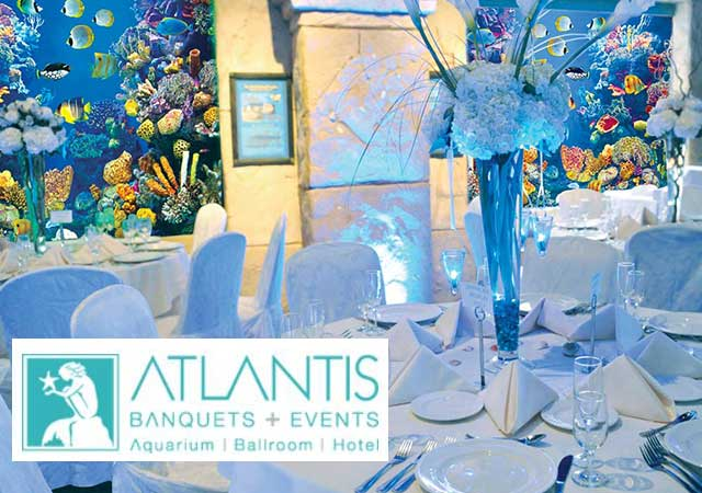 Atlantis Banquets and Events, Banner.