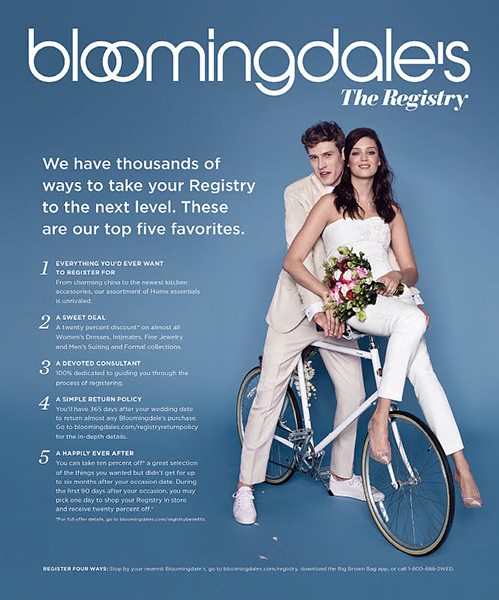 Bloomingdale's Wedding Registry, Bridal Registry & Gift RegistryTypes: Women's, Men's, Shoes, Handbags, Beauty, Home.