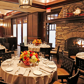 Blackstone Steakhouse main dining room.